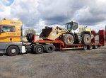 Transport kombajnów zbożowych, maszyn rolniczych, budowl