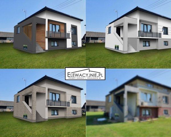 Projekt elewacji, wizualizacje 2D/3D, projekt elewacja d